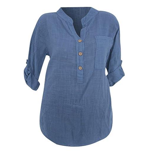 76f247623ac2d4 Amazon.com  Faionny Women Sexy Blouse Translucent Casual Button ...