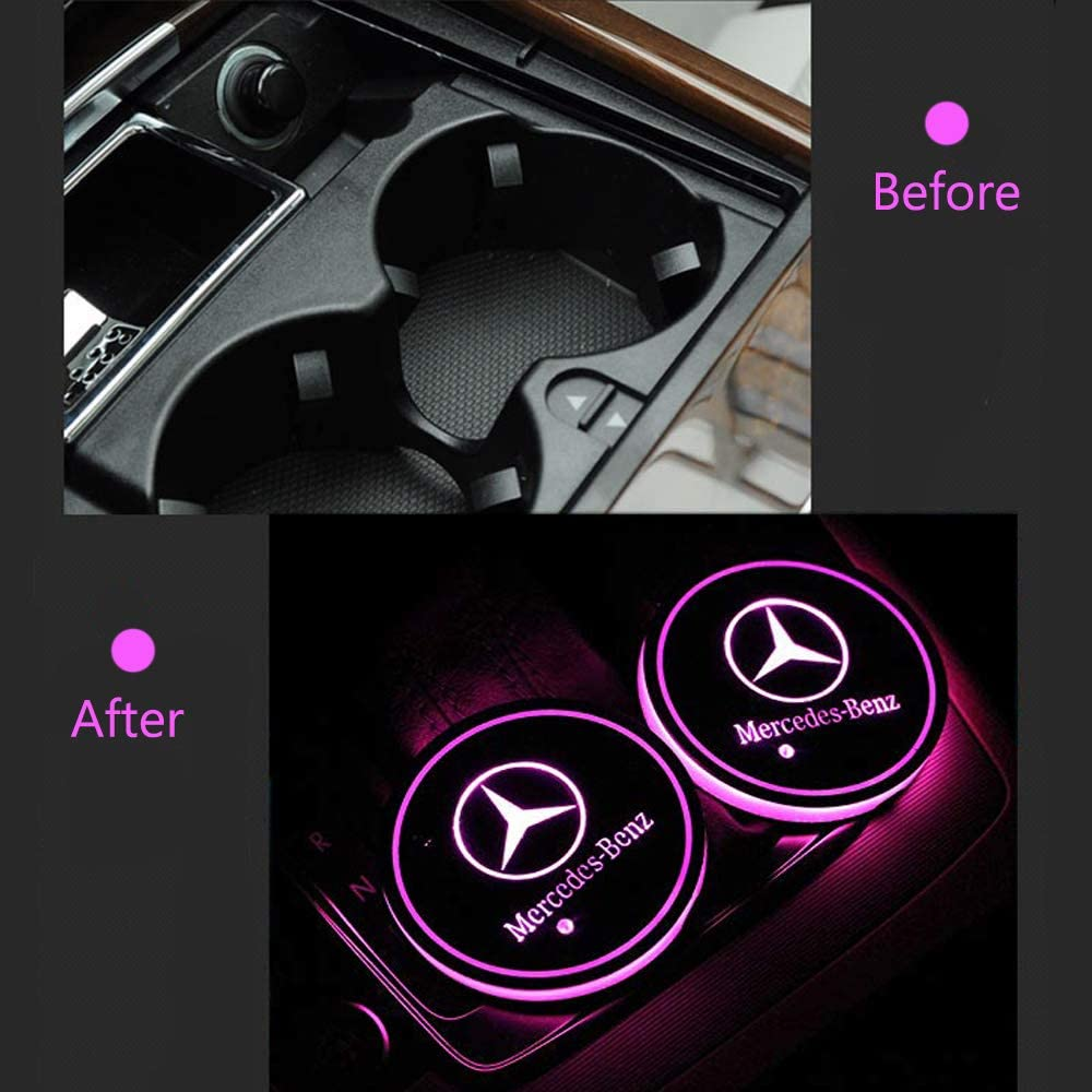 Interior Accessories OSIRCAT LED Car Cup Holder Lights fit ...