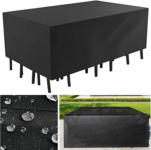 Lvyleaf Funda para Muebles de Jardín Impermeable Funda para Mesa para Mobiliario de Exterior Mesa, Barbacoa sofá sillas de Exterior Cubierta Protectora (200x160x70cm): Amazon.es: Jardín