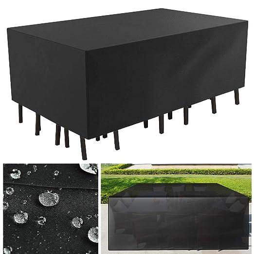 Lvyleaf Funda para Muebles de Jardín Impermeable Funda para Mesa ...