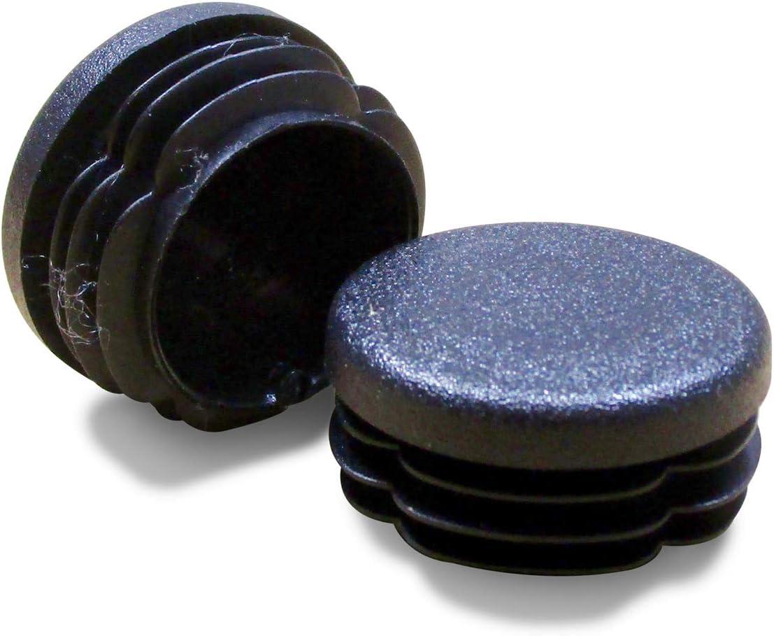 BLANCA Contera pl/ástica redonda D: 18 mm 12 piezas protector de suelo para patas de sillas EVR218-M ajile