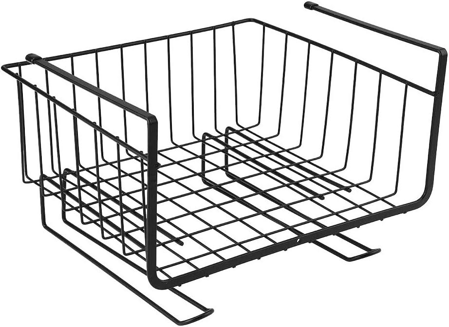Alaojie Storage Basket Rack Under Shelf Cabinet Wire Organizer Holder for Kitchen Pantry Desk