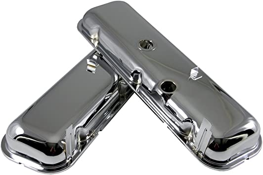 Assault Racing Products A9503 Big Block Chevy Chrome Steel Valve Covers OEM Style BBC 396 427 454