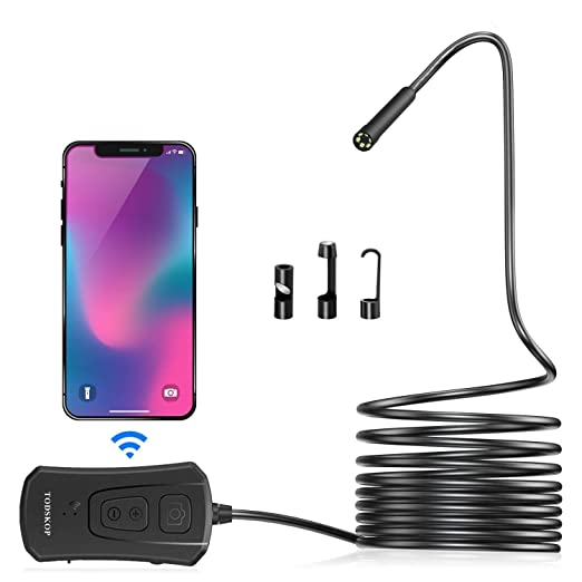 Skycoolwin 2.0 Megapixel CMOS HD 9mm WiFi Endoscope Borescope Waterproof Video Inspection Camera Snake for IOS and Android Phones(2m//6.56ft)