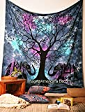 Americana Decor's Tree With Elephant Mandala Tapestry , Queen Elephant Tapestry , Picnic Beach Sheet , Decorative Wall Hanging.