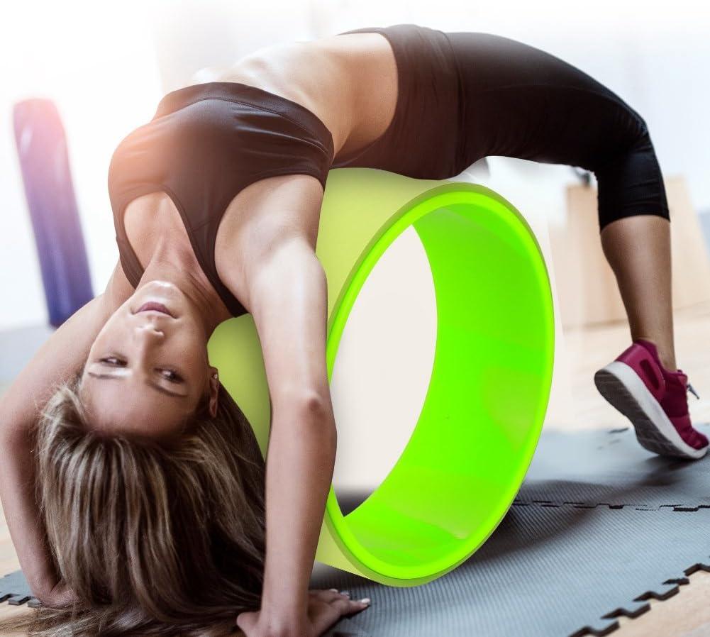 Zerone Rueda de Yoga Rodillo El/ástico Pilates flexibilidad Rueda de Curaci/ón Postura y Ejercicios de Pilates Yoga Fitness 31 * 12,5 cm Ayuda para Yoga flexibilidad