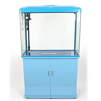 Acuario completo con Mueble Bomba Filtro Luz LED 160 litros.: Amazon.es: Productos para mascotas