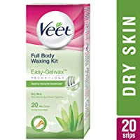Veet Full Body Waxing Kit with Easy-Gelwax Technology for Dry Skin - 20 Strips
