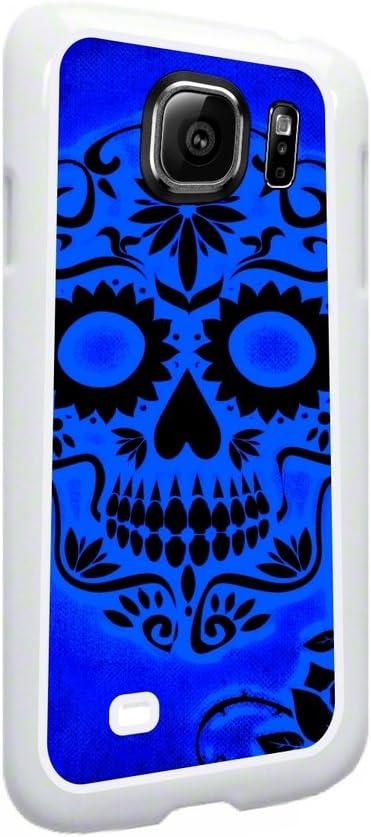 Sugar Skull On Blue Background Print Design Samsung Galaxy S7 Edge Universal Soft White Rubber Case Amazon Ca Cell Phones Accessories