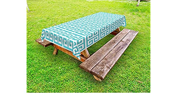 Cool Amazon Com Ambesonne Greek Key Outdoor Tablecloth Gmtry Best Dining Table And Chair Ideas Images Gmtryco