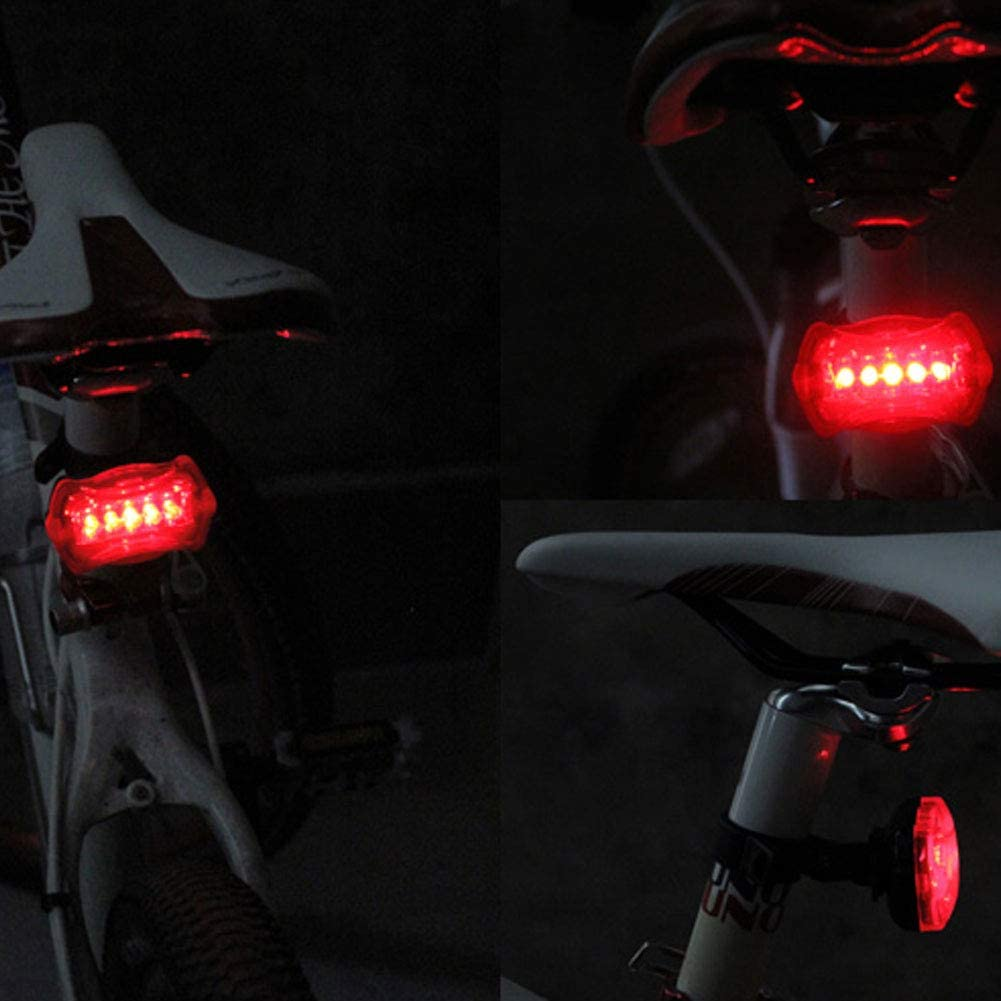 Romote Rear Bike Light 5 Led Bicycle Butterfly Tail Light Cycling Safety Red Light Mtb Taillight Lamp Bicycle Accessories