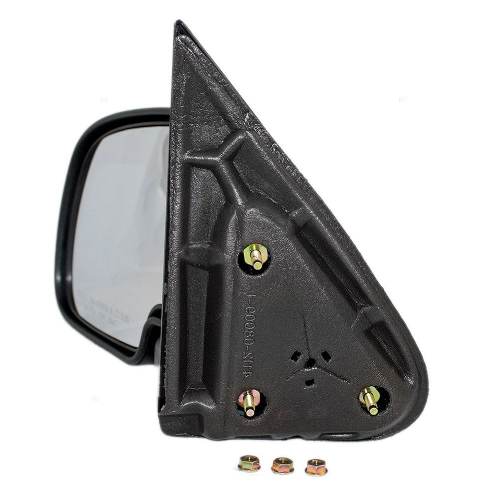 Drivers Manual Side View Mirror with Textured Cap Replacement for Chevrolet GMC Pickup Truck SUV 25876714