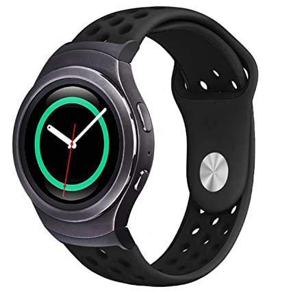 Gear S2 Watch Bands, ViCRiOR Soft Silicone Adjustable Replacement Strap Watch Band with Adapter Connector for Samsung Gear S2 SM-R720 & SM-R730 Smart ...