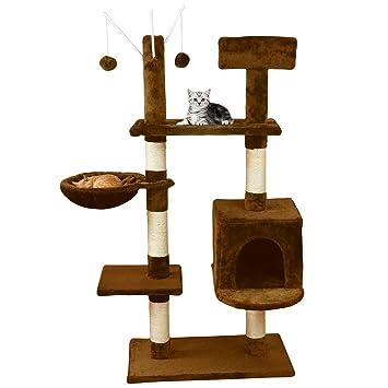 MC Star Árbol para Gato con Rascador de 131cm,Arañazo Juguete de Gatos de Sisal Natural,(Beige, Marrón): Amazon.es: Productos para mascotas