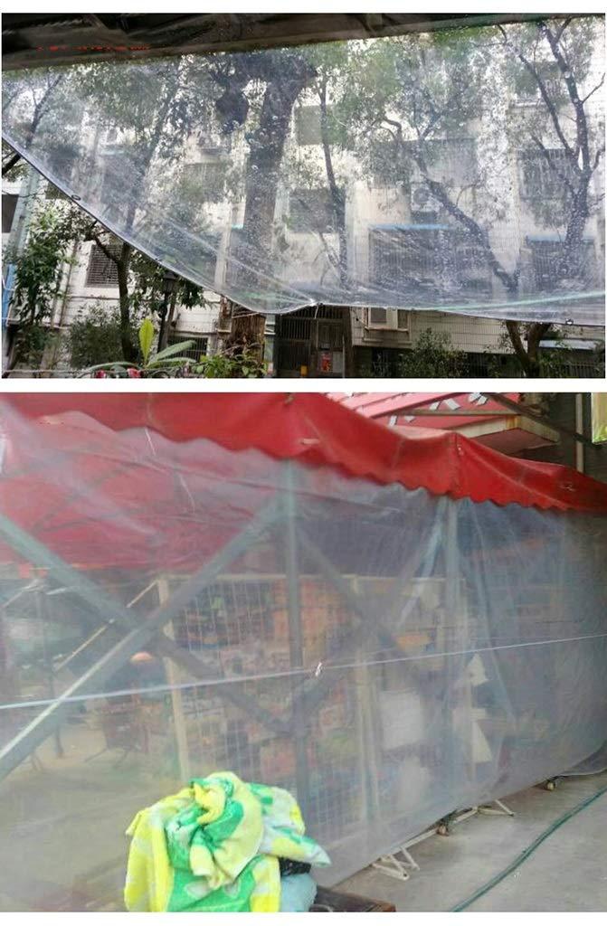 DYFYMXOutdoor Ausrüstung Doppelte Transparente Plane Lichtschutzraumplane-Balkonfenster verdickende Lichtschutzraumplane-Balkonfenster Plane regendichtes windundurchlässiges Transparentes Tuch @ e6e43b