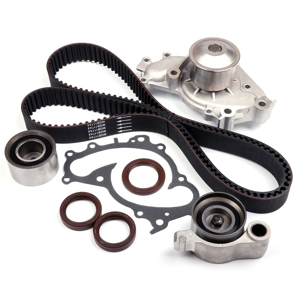 SCITOO Timing Belt Kit Water Pump Fits 2004-2006 Lexus ES330 24V 3.3L V6 DOCH 3MZFE 110252-5206-1034071