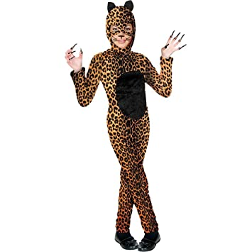 charades childs cheetah cat costume jumpsuit multicolor large - Kids Halloween Costumes Amazon