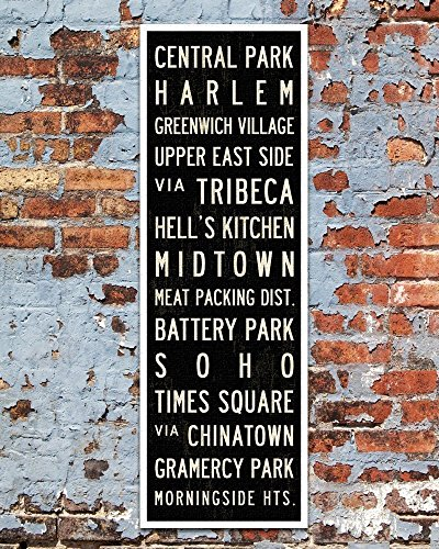 New York Subway Sign, New York Poster, Canvas Art Print, Apartment or Loft Home Decor. 12 x 36