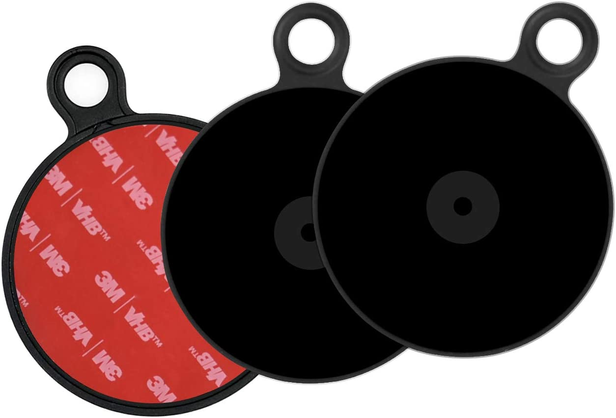 APPS2Car Pack de 3 Discos Adhesivos para GPS Tomtom Dashboard Pad Mounting Disk per Dashboard Ventosa Supporto per Auto Supporto per telefono GPS Supporto universale in plastica con adesivo 3M
