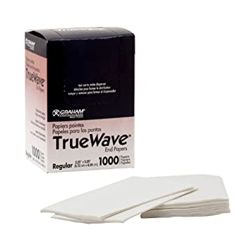 Graham Professional TrueWave END PAPERS Salon Hair Perm True Wave 1000ct Regular