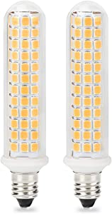 Patent Product E11 100W LED Light Bulb, 10W Dimmable E11 Base Bulbs, Mini Candelabra Base, 100W 120W Equivalent, JD T3 T4 Bulb, 125X2835SMD 360° Indoor Lighting (Pack of 2) (Warm White-3000K)