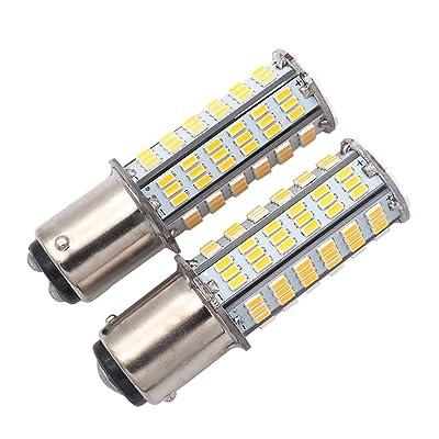 GRV Ba15d 1076 1142 1176 LED bulb 126-3014 SMD AC/DC 12-24V 3.8W Warm White Pack of 2: Automotive