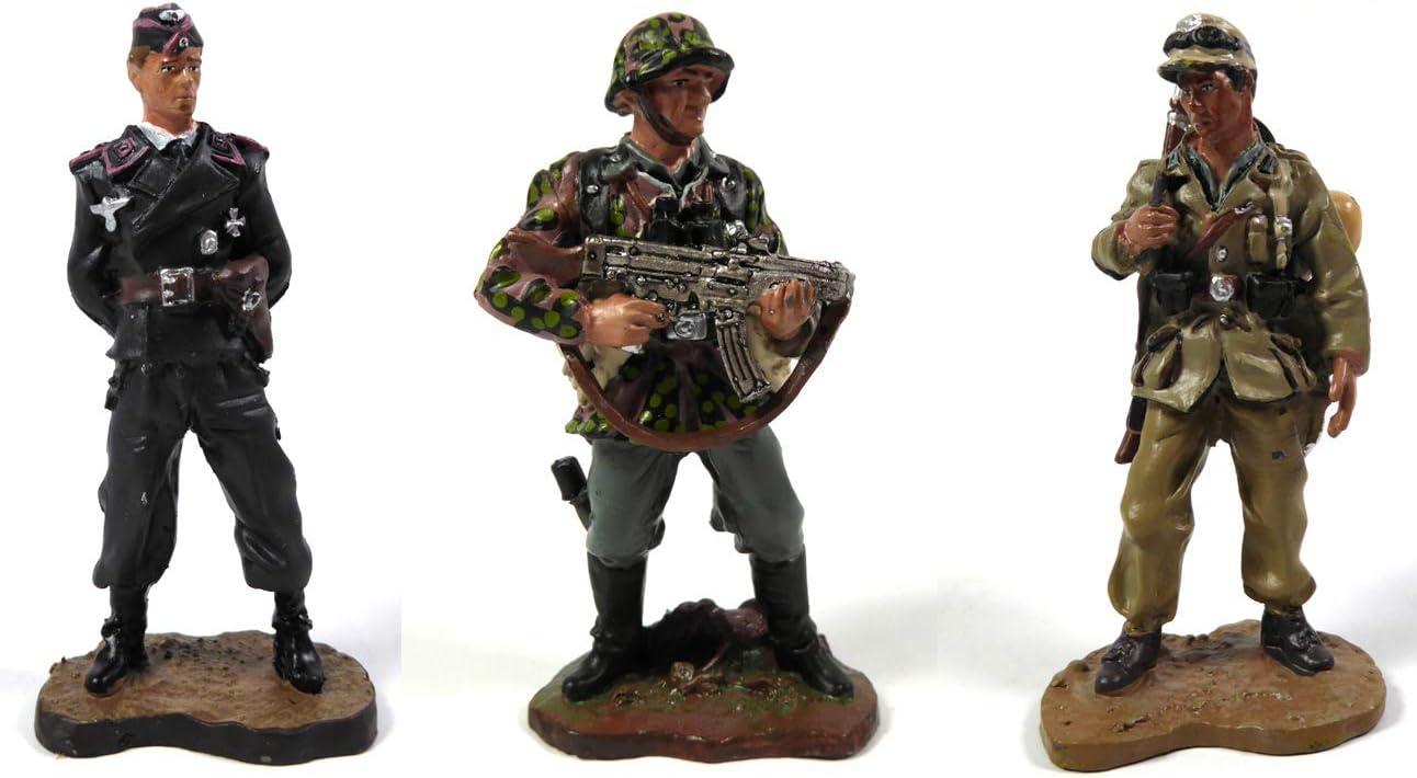 OPO 10 - Lote de 3 Figuras de Soldados alemanes 1/32 60mm WW2 del Prado (LS1)