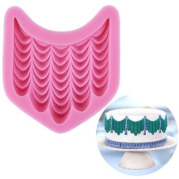 CLE DE TOUS - Molde de Silicona para Fondant Tarta Pastel Cenefas azúcar estirado, helado