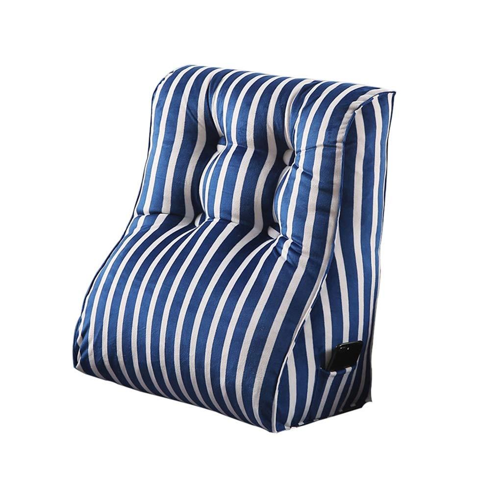 DUHUI Bed Wedge, Wedge für Wohn- und Schlafzimmer, Sleeping Wedge, um die Wirbelsäule zu entlasten , Stillkissen zum Liegen und Sitzen (Farbe : Blau, größe : 45x55x30cm)