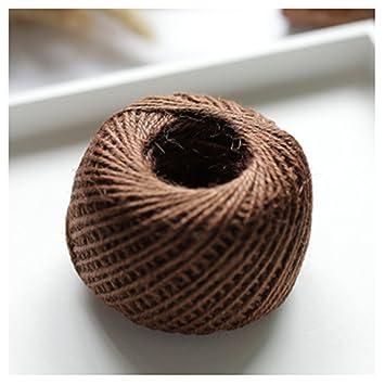 harleya 3 mm 3 acciones cáñamo trenzado yute Cuerda 100 M DIY/accesorio decorativo hecho
