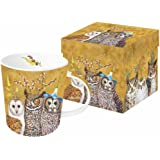 "Paperproducts Design Mug In Gift Box Featuring Owl Family Design, 5 x 4 x 4"", Multicolor"