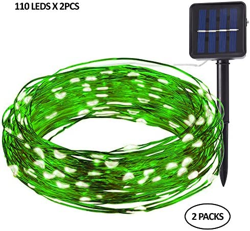 Levizons Solar Outdoor String Lights 220 led bulbs Waterproof Decorative Lights Perfect For Your Patio, Garden, Yard, Parties,Weddings Holidays Warm White,Multicolored Warm white-Green wire