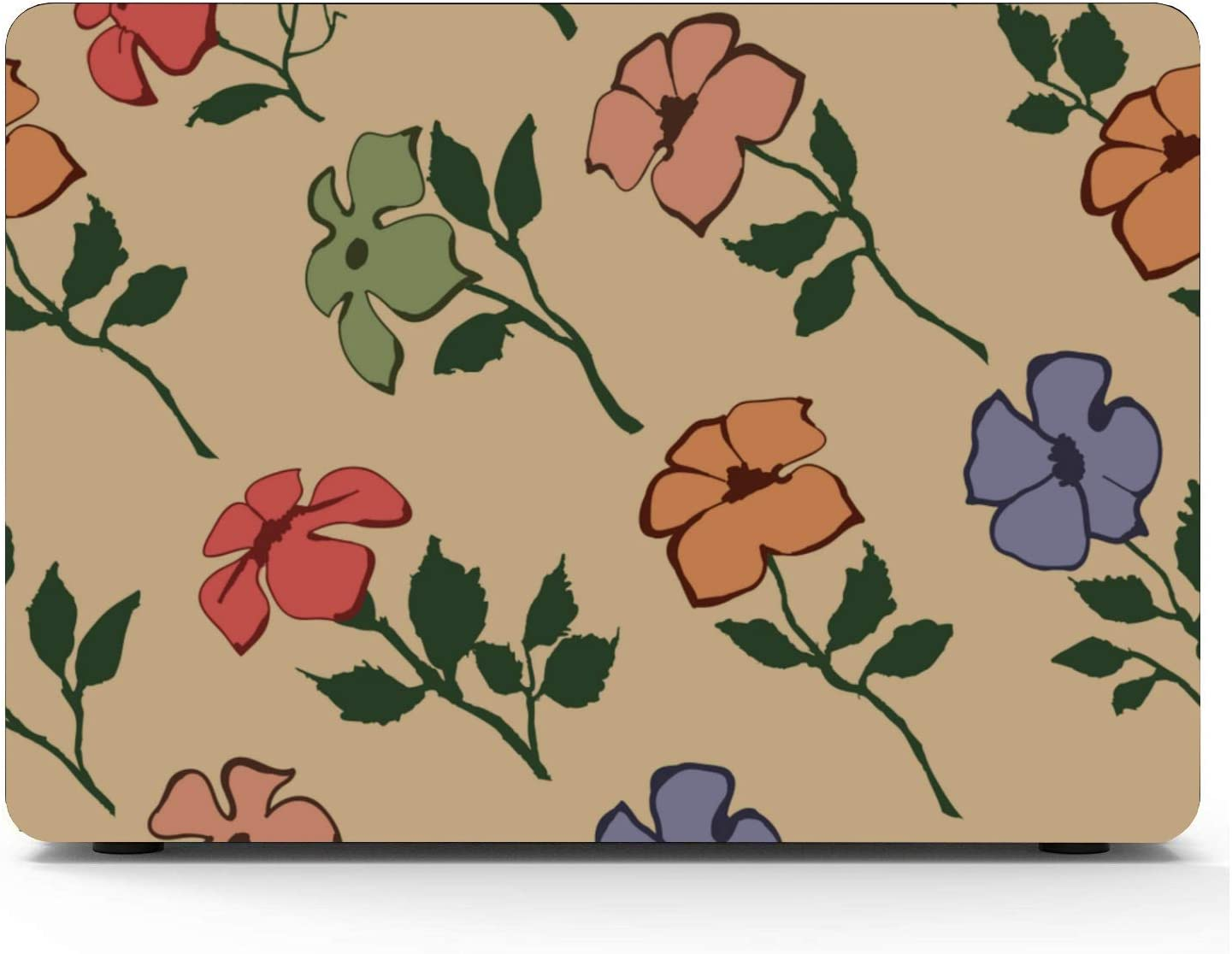Mac Book Air Covers Casual Flowers Free Little Pretty Plastic Hard Shell Compatible Mac Air 11 Pro 13 15 Laptop Hard Cover Protection for MacBook 2016-2019 Version