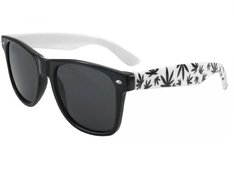 Morefaz - Gafas de sol (unisex, protección UV400), diseño retro de estilo Wayfarer, diseño de hojas ...