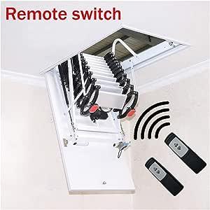 Escalera de techo eléctrica para suelos de tejado, plegable e invisible, escalera de techo para escaleras de 2 m a 4 m: Amazon.es: Bricolaje y herramientas