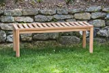 Teak Park Bench Backless 4ft (seats 2) Luxury