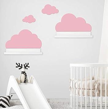 Wandtattoo Wolken In Rosa Fur Ikea Regalbrett Ribba Mosslanda 55 Cm Bilderleiste Fur Babyzimmer Kinderzimmer Aufkleber Fur Wand Und Tapete Amazon De Baby