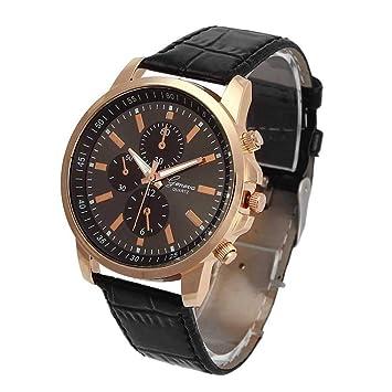 Reloj de Hombre,WSSVAN Unisex Correa de Ginebra Reloj de Cuarzo ...