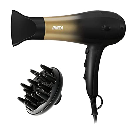 Innza 1875W Hair Dryer,Nano Ionic Blow Dryer Professional Salon Hair Blow Dryer Lightweight Fast Dry Low Noise,with Concentrator Diffuser,2 Speed 3 Heat Setting