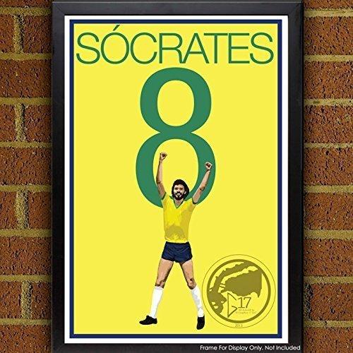 S?crates Poster - Brazil Soccer Art