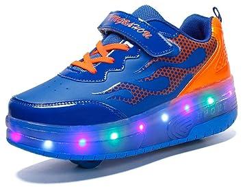 91e68ca126b3e xbh Skateboard chaussures avec des lumières LED 7 couleur changement de  couleur clignotant Roues Chaussures Chaussures ...