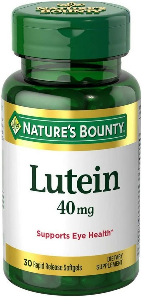 Nature's Bounty Lutein 40 mg Softgels, 30 ea (Pack of 5)