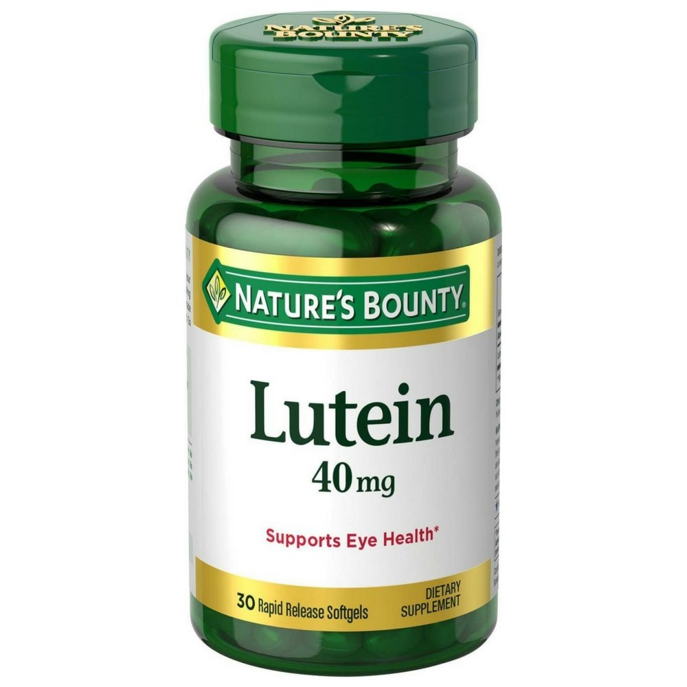 Nature's Bounty Lutein 40 mg Softgels, 30 ea (Pack of 12)