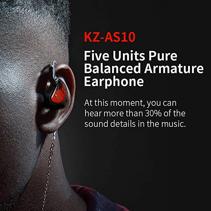 Auriculares estéreo KZAS10 5BA HiFi de Alta resolución con ...