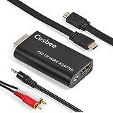 【Cesbee】PS2専用 HDMI接続 コネクター 変換コンバーター + ハイスピードHDMIケーブル + ステレオミニプラグ to 2RCA PS2をHDMIテレビ・PC液晶モニタに接続 AV 変換 アダプター 小型 軽量 携帯便利