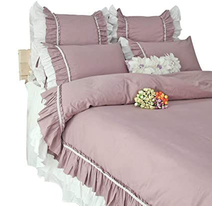 Queenu0027s House Bedding Vintage White Ruffled Bed Sheets Twin