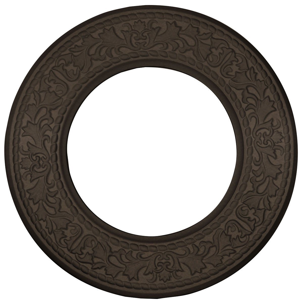 Ekena Millwork CM13BLBZS 13 3/8'' OD X 7 1/2'' ID X 3/4'' P Jet Blackthorn Ceiling Medallion fits Canopies up to 7, Bronze by Ekena Millwork