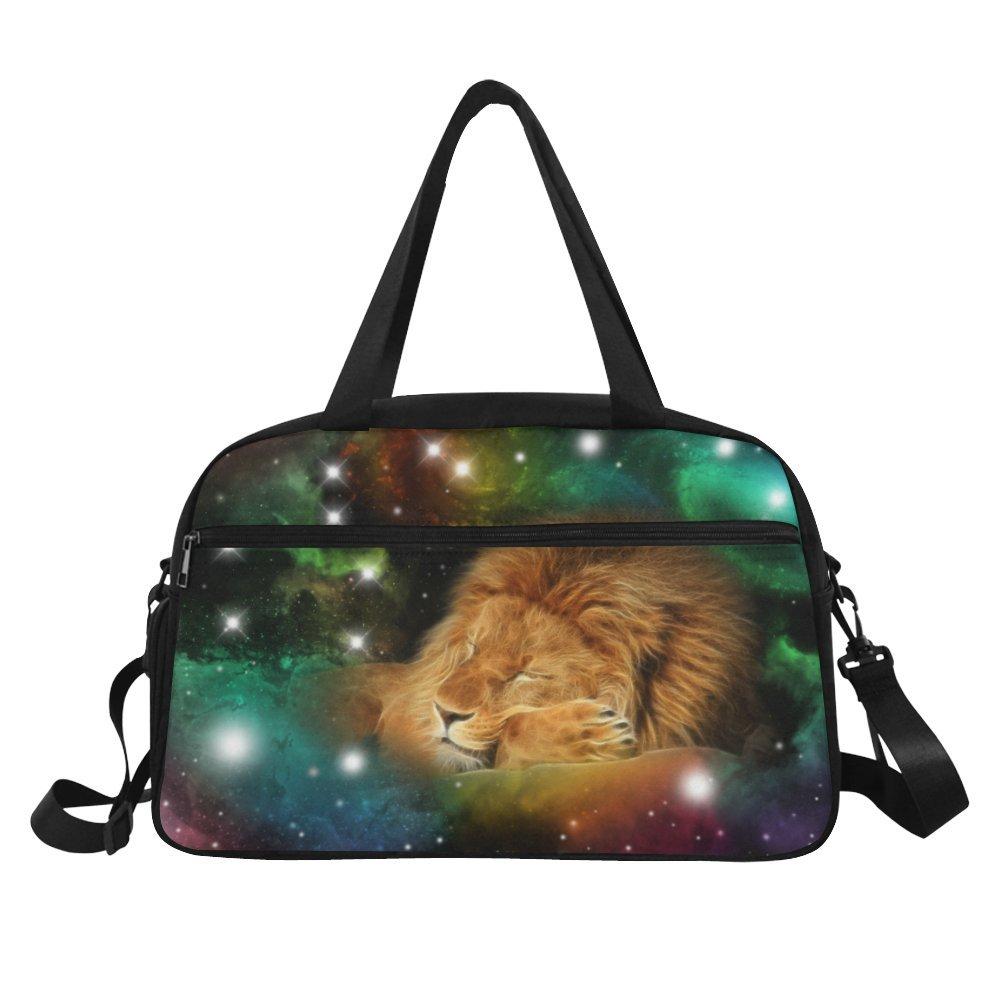 InterestPrint Zodiac Leo Galaxy Lion Duffel Bag Travel Tote Bag Handbag Luggage by InterestPrint (Image #2)
