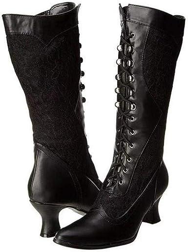 Amazon.com: Lace Heel Knee High Boot