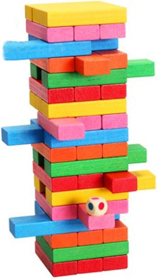 Alta moda color montones de juegos educativos para niños elevación padre-hijo escritorio Jenga madera juguetes interactivos: Amazon.es: Juguetes y juegos